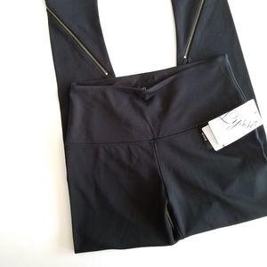 Lysse | Black Zipper Detailing Leggings Medium